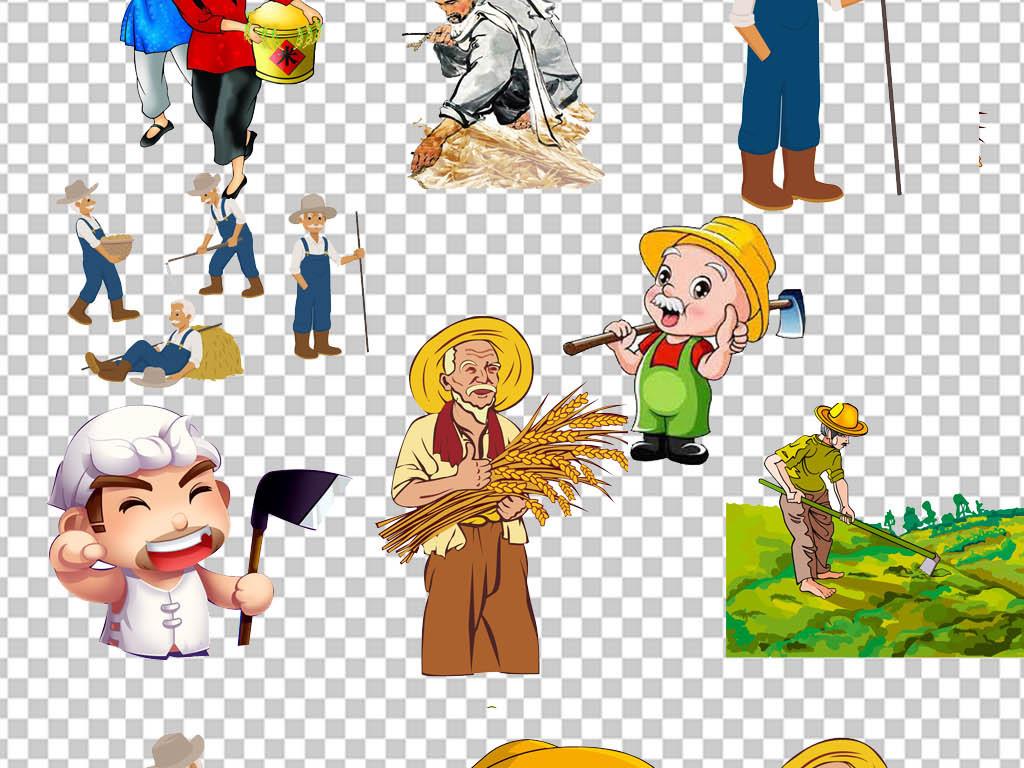 收获季节农业农民伯伯耕地PNG免扣素材图片 模板下载 35.21MB 装饰图片