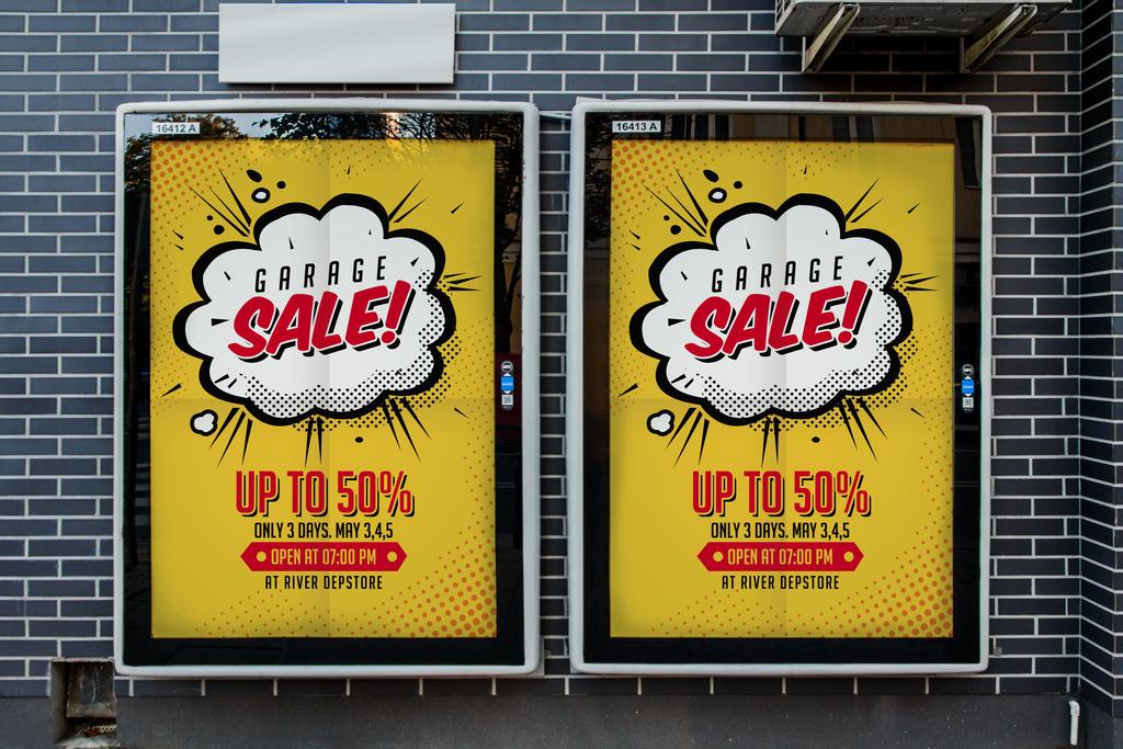 时尚简约手绘漫画风气泡对话框销售促销活动创意海报