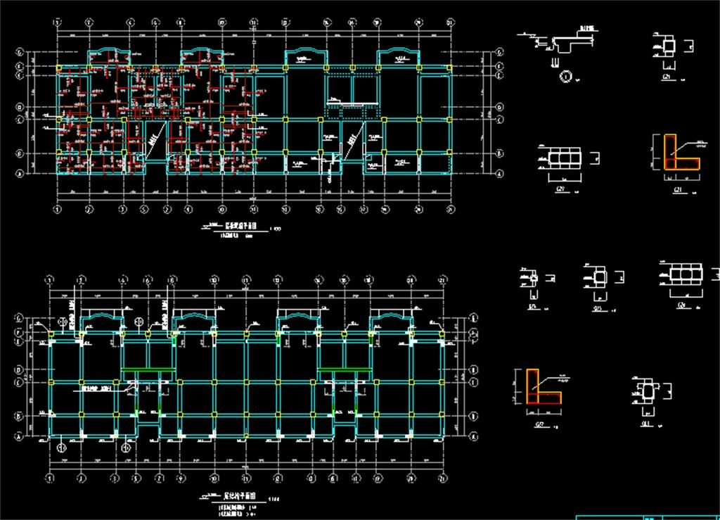 住宅楼建筑结构cad施工图