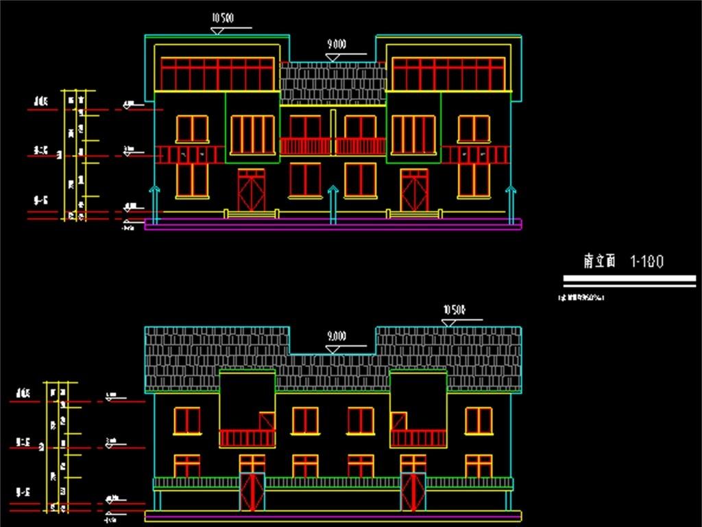 新农村住宅楼cad建筑施工图