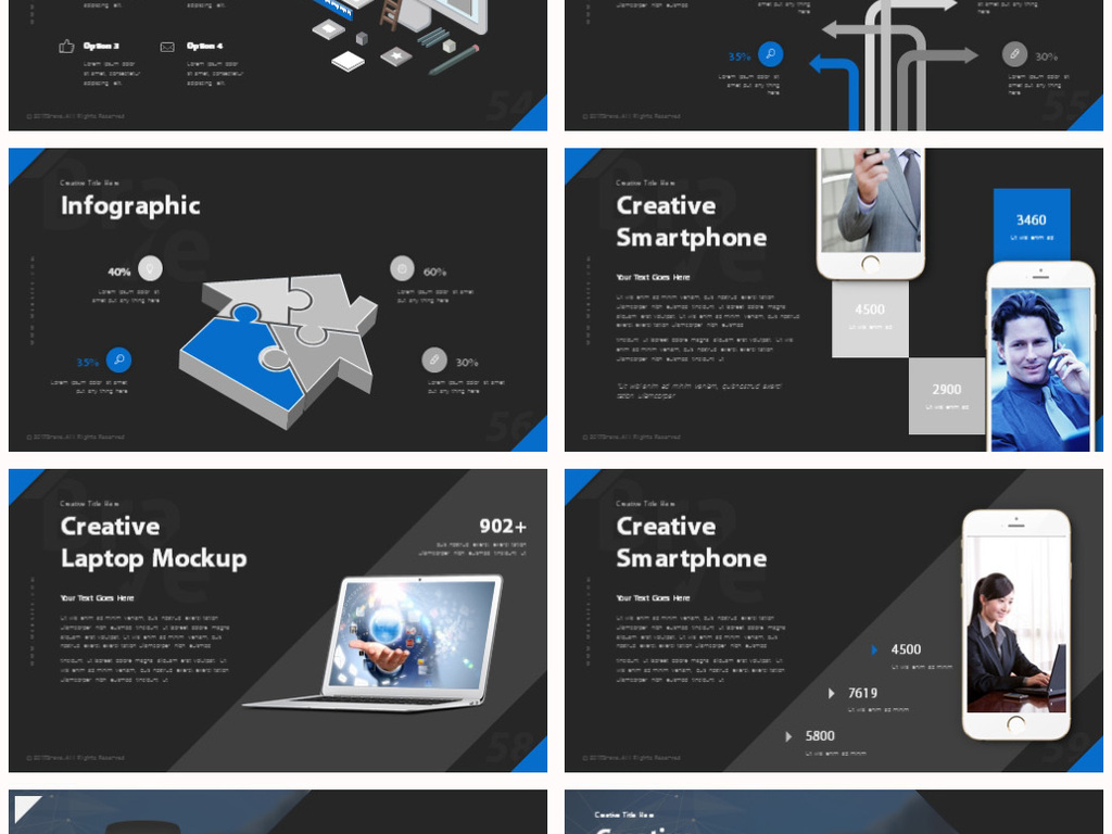 创意图文排版ppt企业宣传介绍ppt模板图片