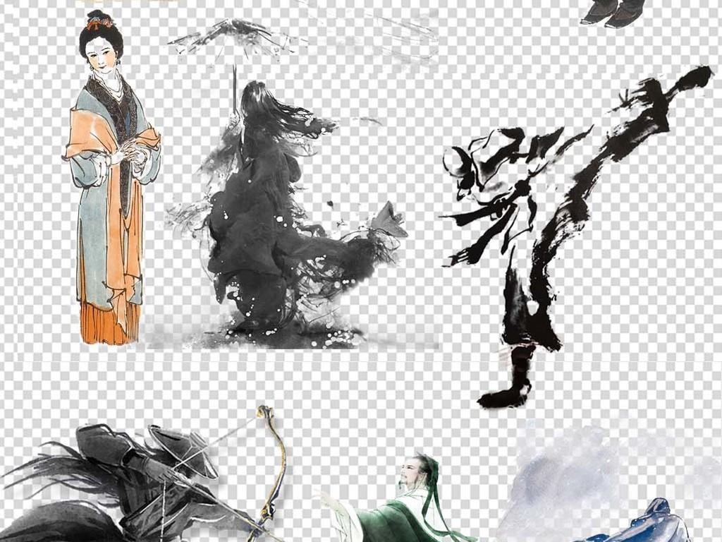 古风孔子老子圣人古代人物图片素材