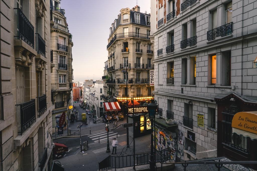 巴黎城市街道风景4K素材图片下载素材图片