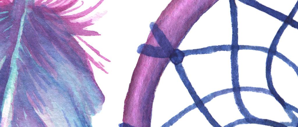 北欧简约创意唯美手绘羽毛装饰画无框画