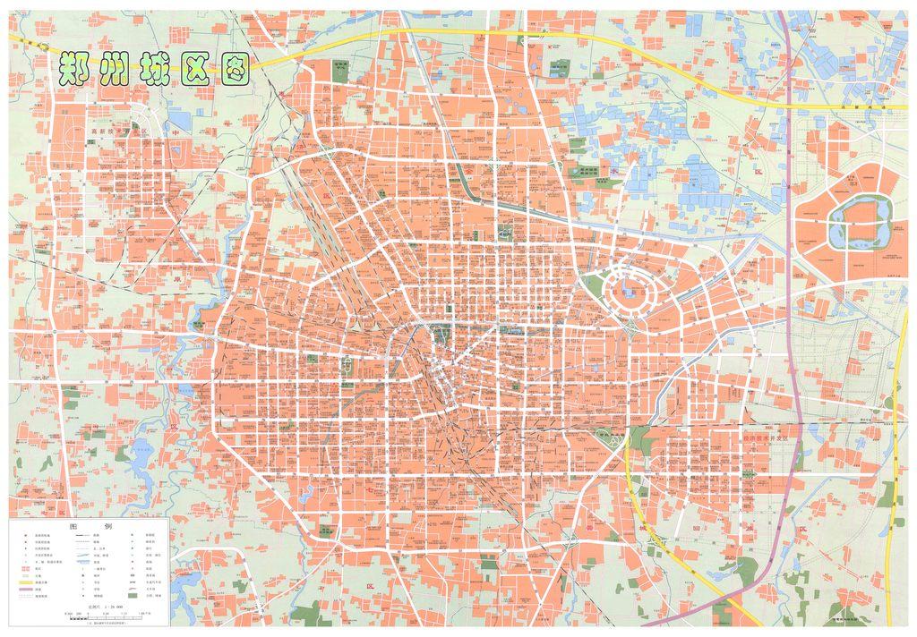 郑州市城区地图高清大图图片