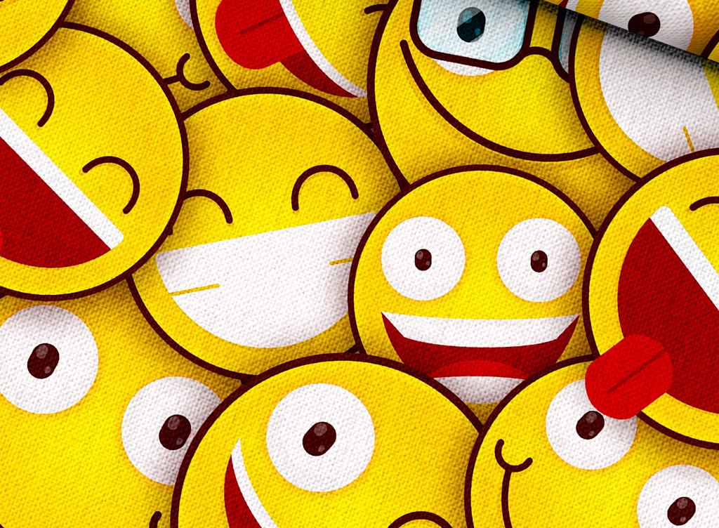 手绘人物笑脸壁纸