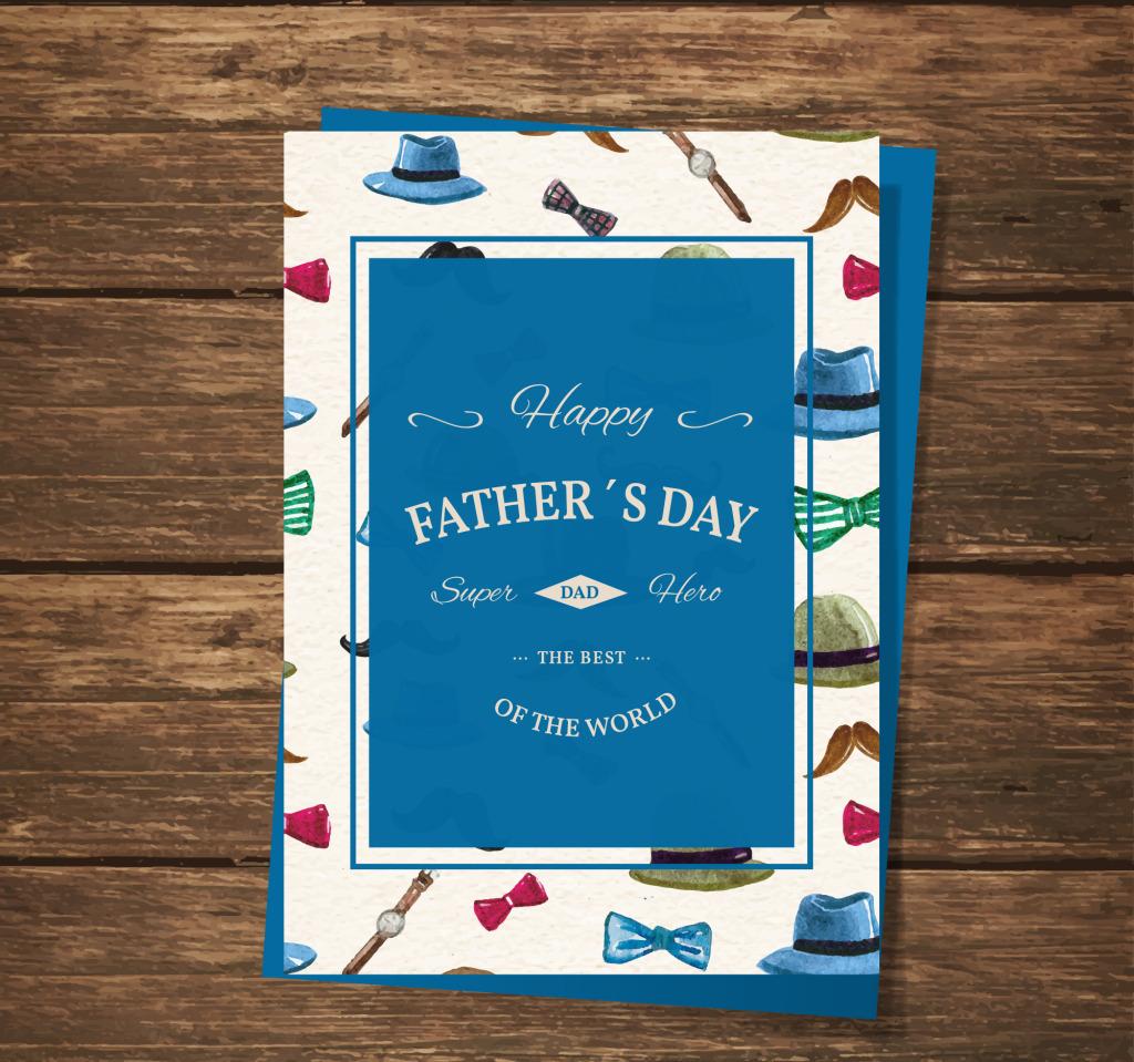 创意手绘插画父亲节海报卡片设计