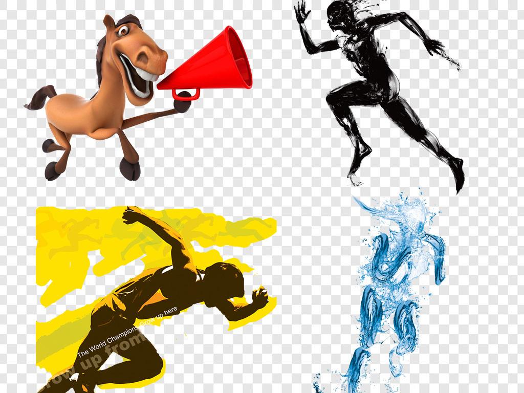 马拉松手绘海报