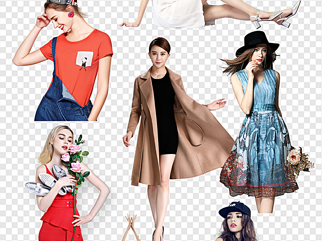 时尚手绘内衣模特男模特时装模特女