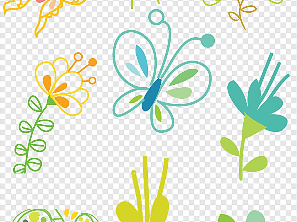 免抠元素 标志丨符号 其他 > 手绘小花素材小清新素材  素材图片参数