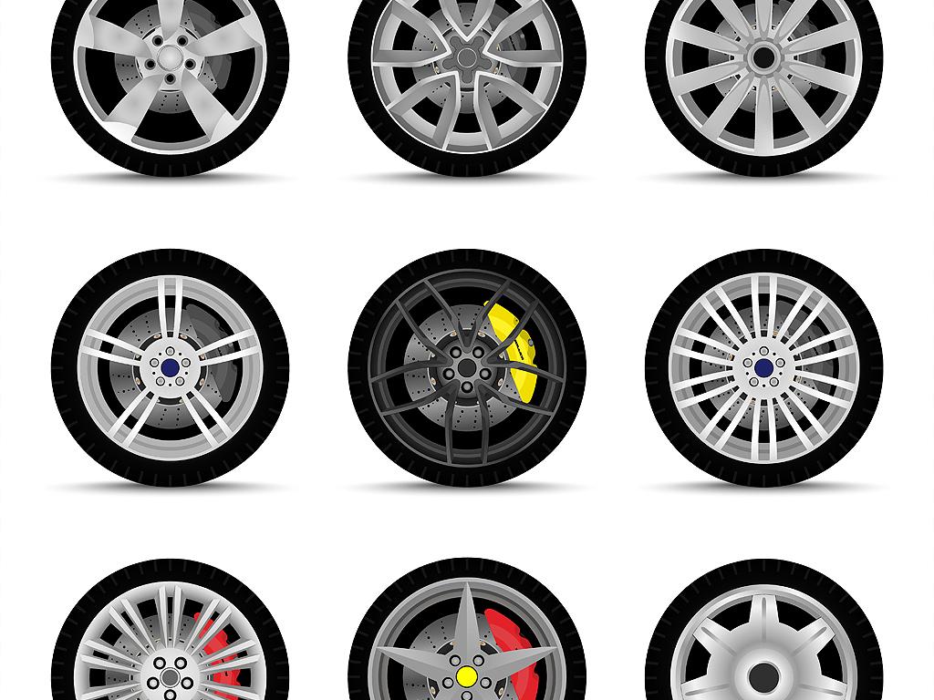 eps)手绘卡通                                  汽车车轮汽车维修