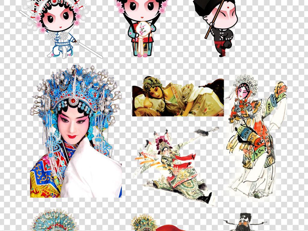中国京剧人物卡通脸谱