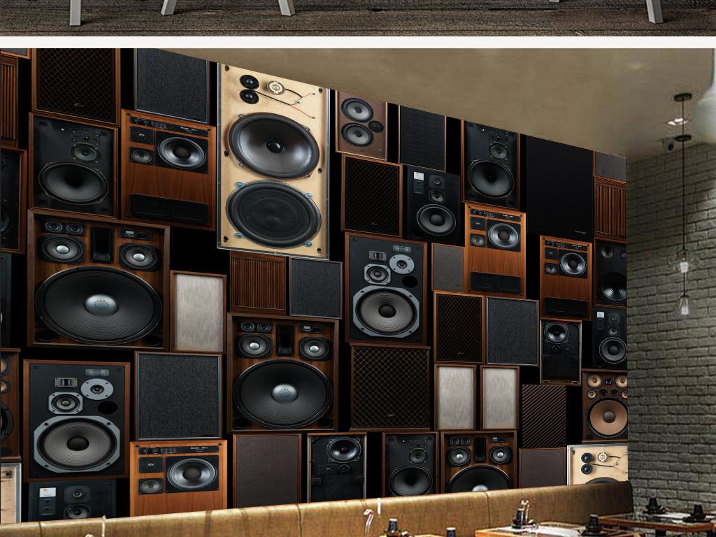 背景墻|裝飾畫 工裝背景墻 賣場|服裝店背景墻 > 歐式復古ktv音響音箱