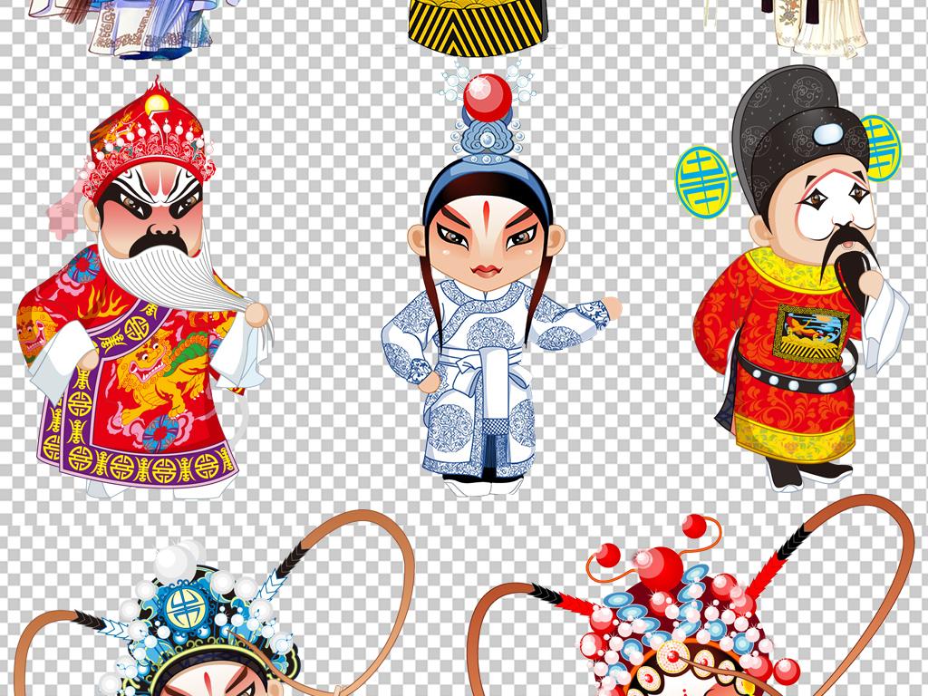 国粹京剧戏剧卡通人物海报设计素材