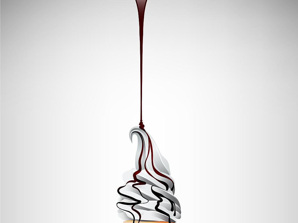 炫丽多彩美味水果冰淇淋甜筒海报展板矢量背景