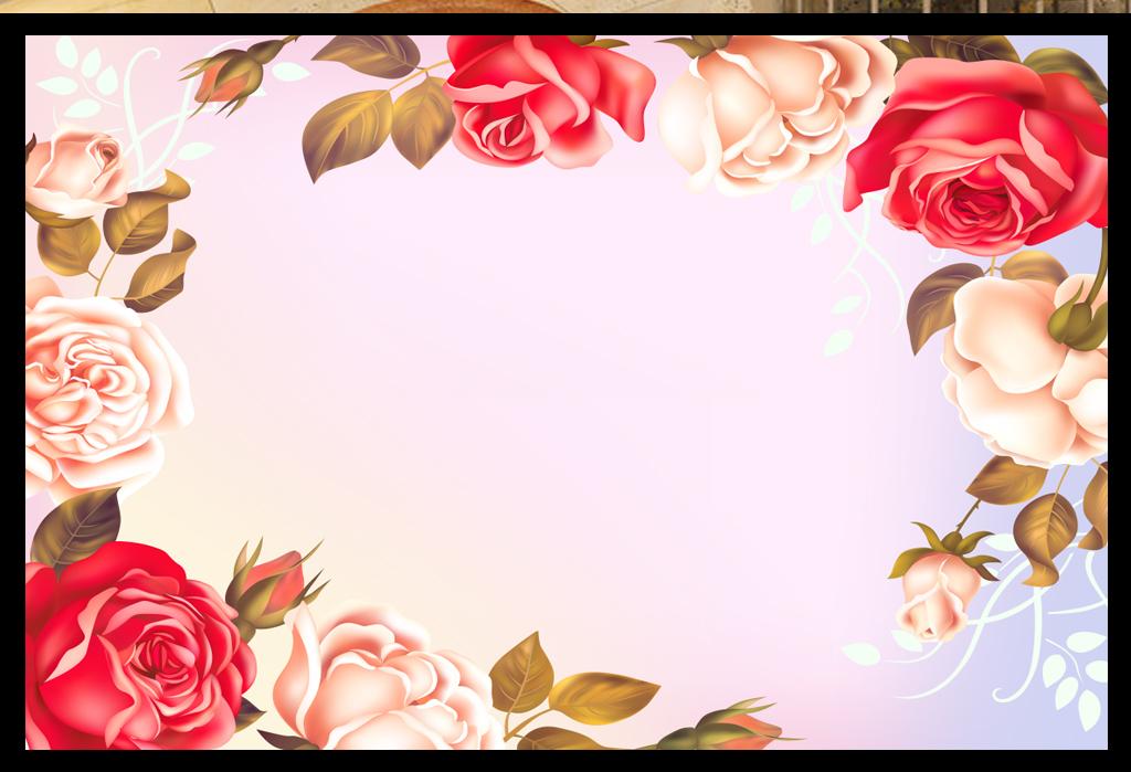 电脑壁纸 手绘花