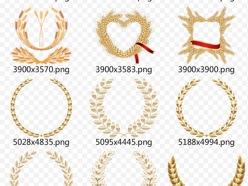 手绘小麦卡通小麦金色麦子小麦面包成熟麦子高粱稻谷素材节约粮食珍惜