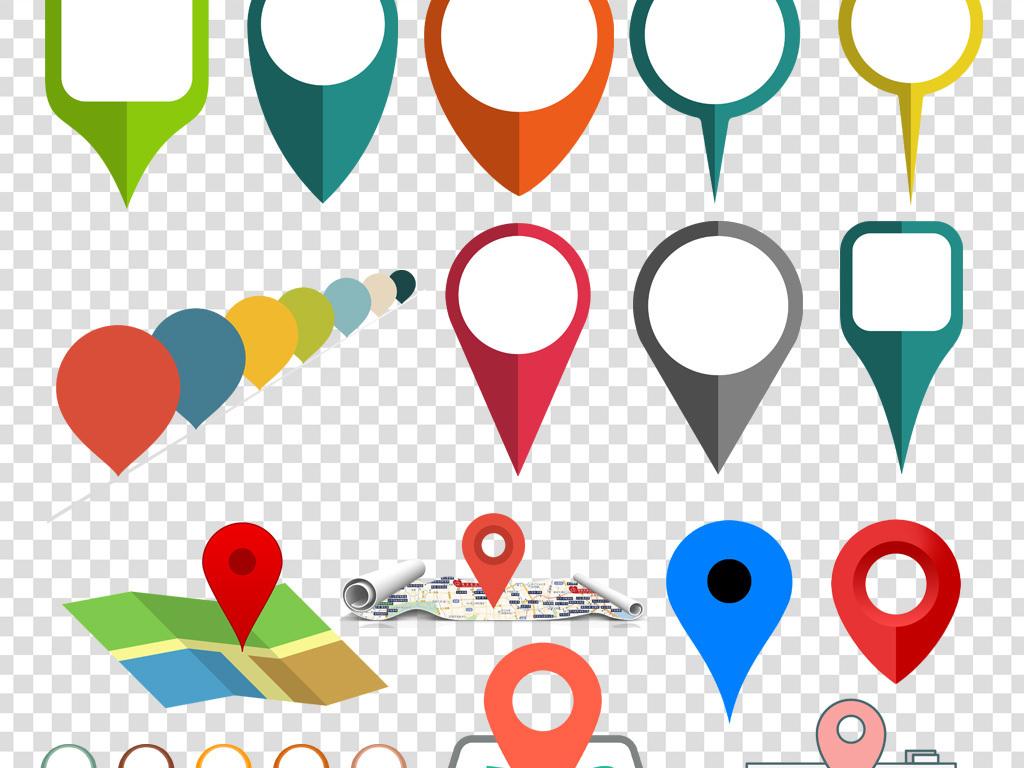 设计元素 标志丨符号 图标 > 地址定位地图位置坐标图标png海报素材