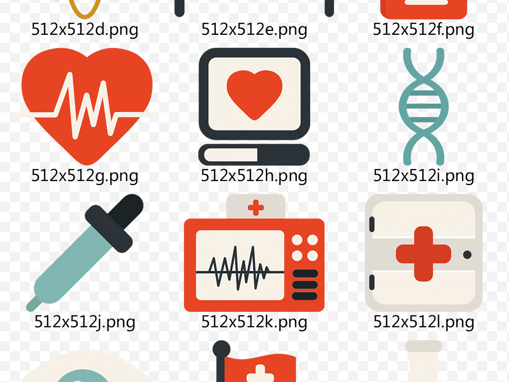 卡通手绘医院医疗医生护士海报ppt图标