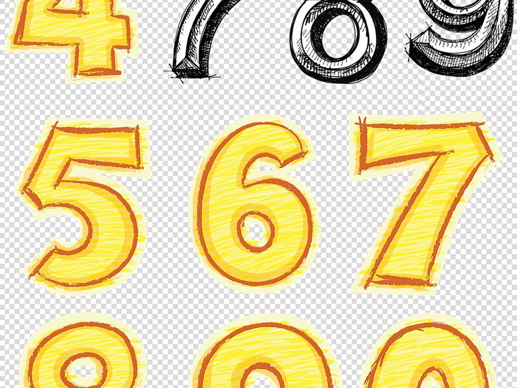卡通素材卡通元素手绘数字数字立体字9立体数字立体数字2立体数字7
