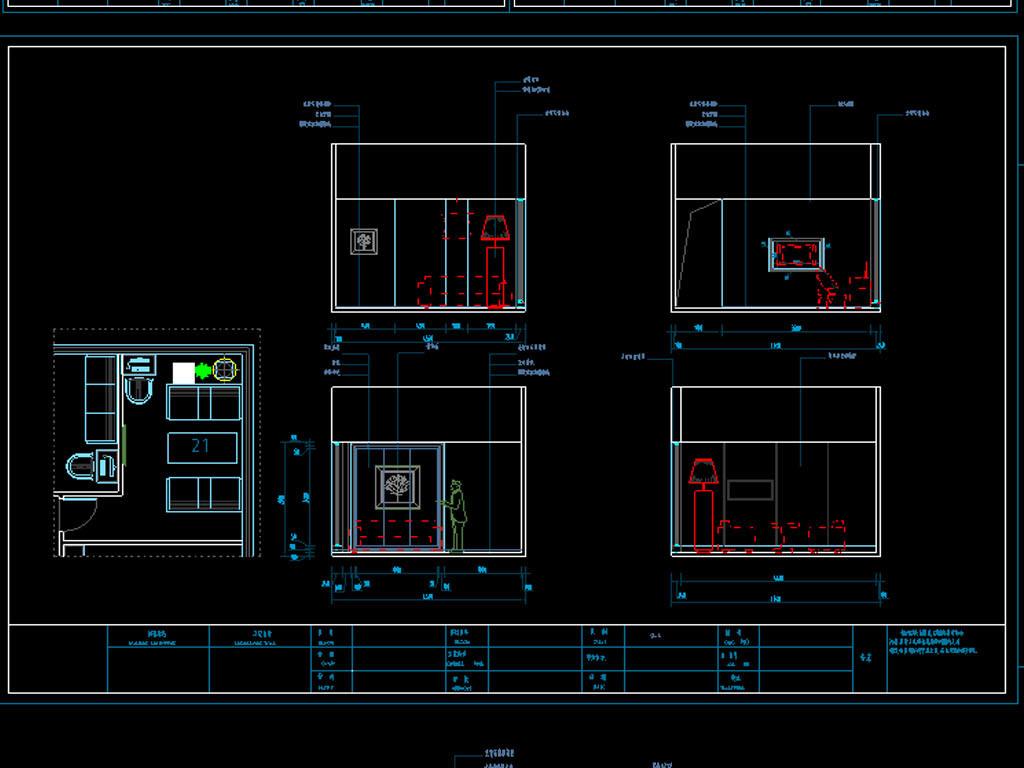 咖啡厅cad平面设计图