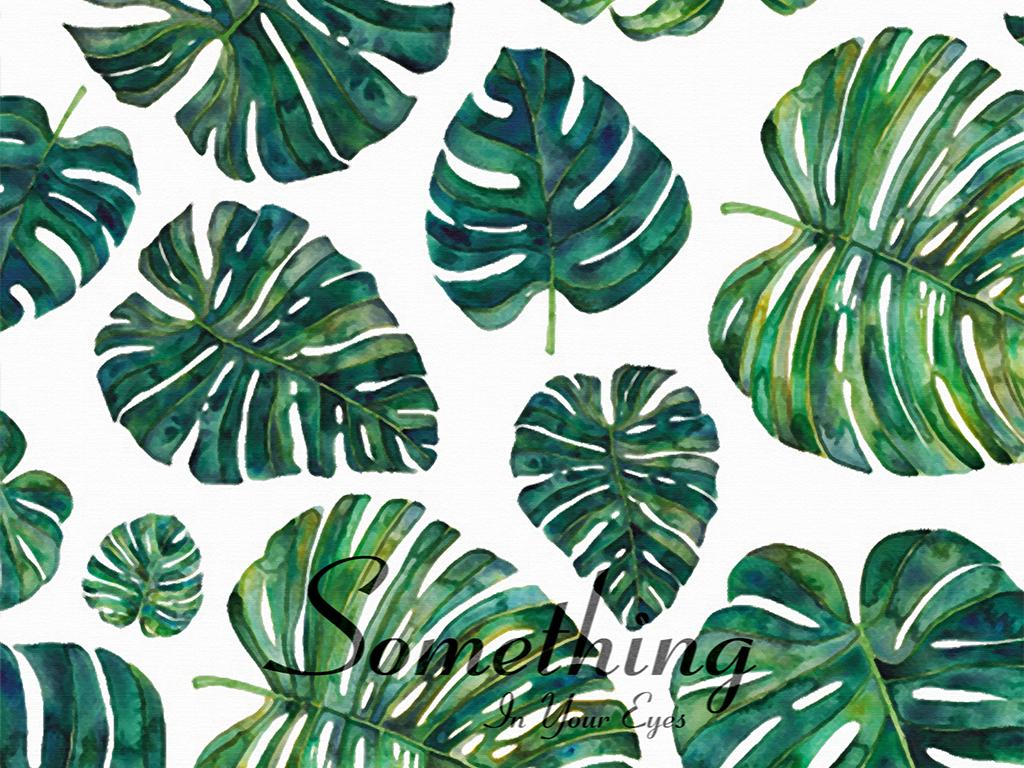 北欧绿色叶子植物无框装饰画