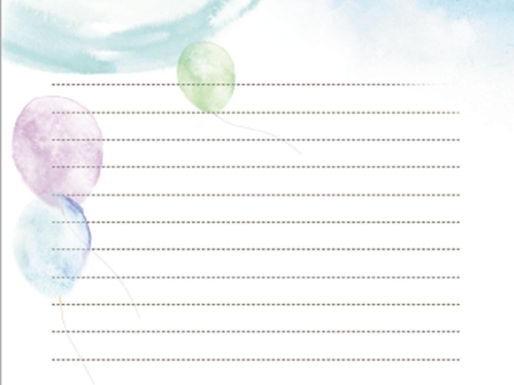 唯美信纸PSD分层模板图片下载psd素材 信纸