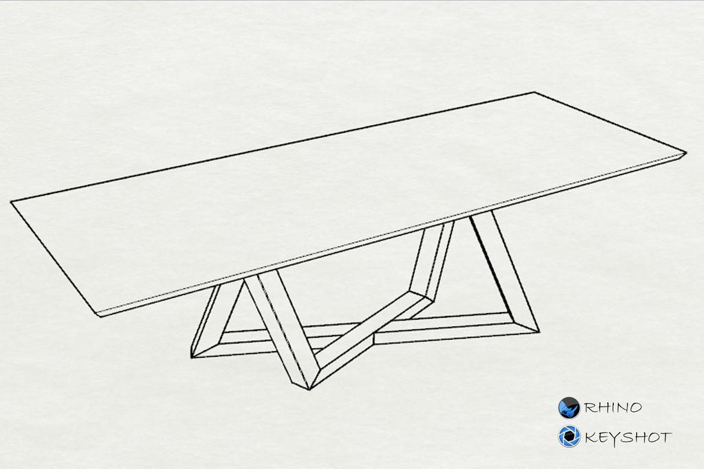实木桌子犀牛模型 igs模型 ks渲染
