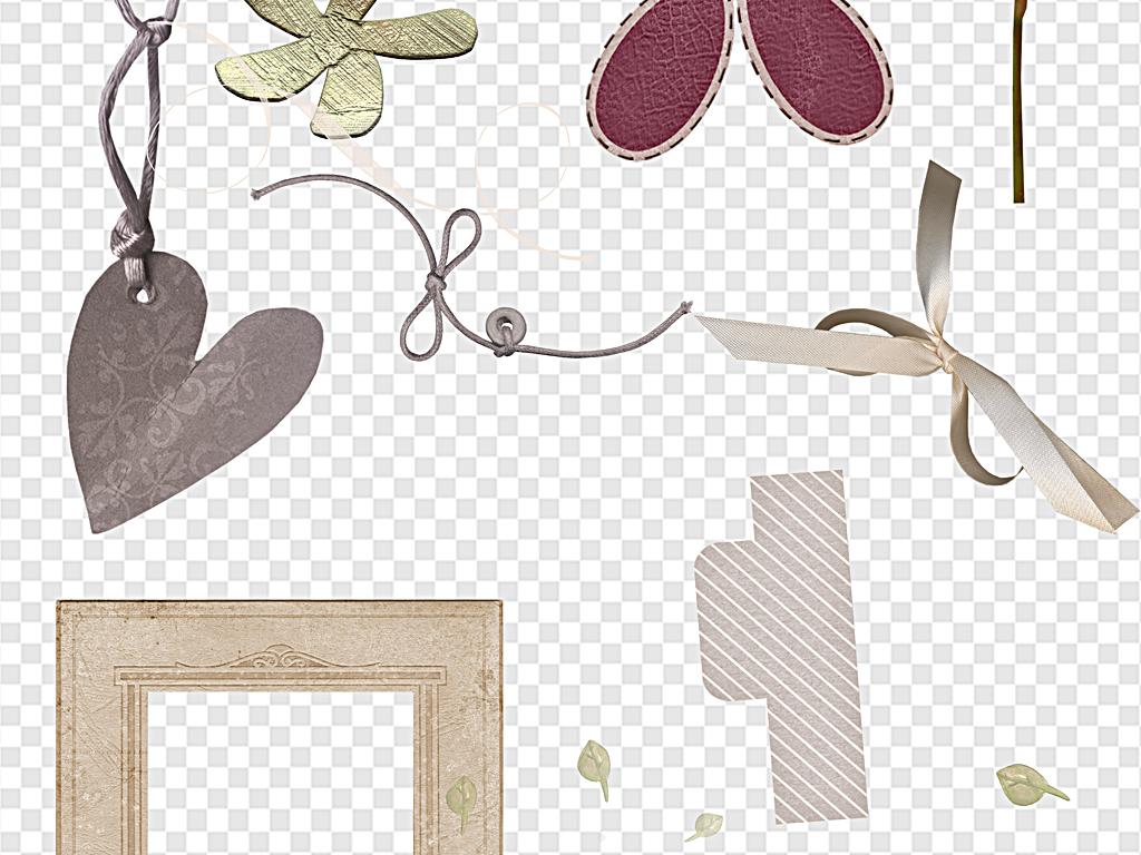 复古手绘花朵复古简约花朵                                  蝴蝶结
