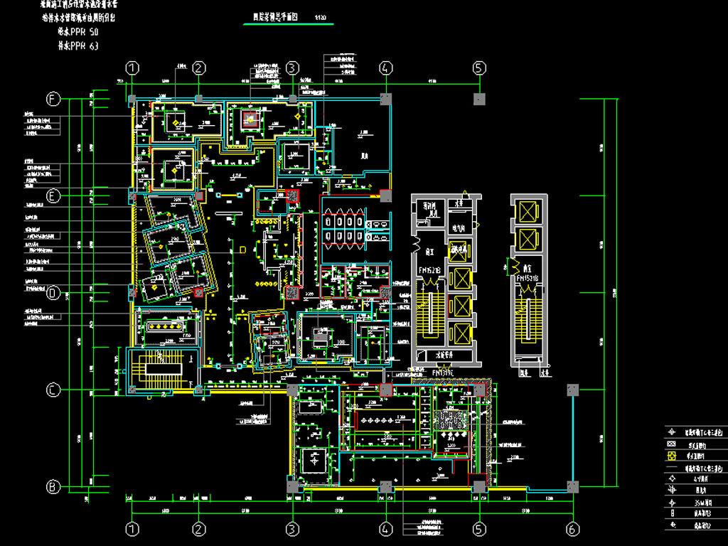 全套茶楼CAD平面装修图附效果图图片