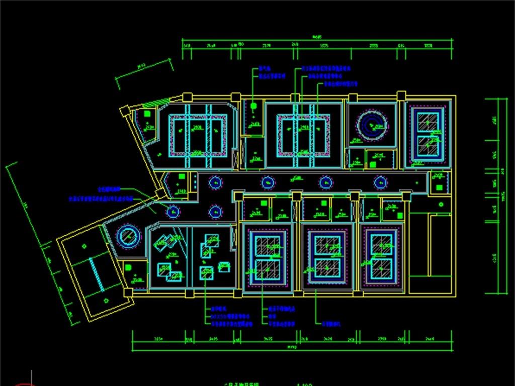 某歌剧院ktv装修cad平面图平面设计图下载(图片2.25mb