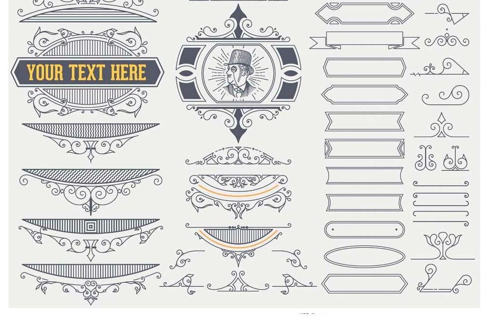 设计元素 背景素材 欧式边框 > 欧式花纹红酒标签标牌装饰图案矢量图