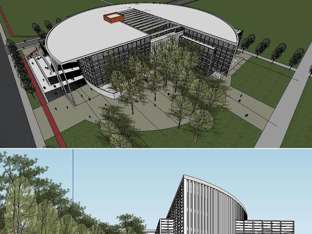 图书馆建筑方案设计(cad su 文本)