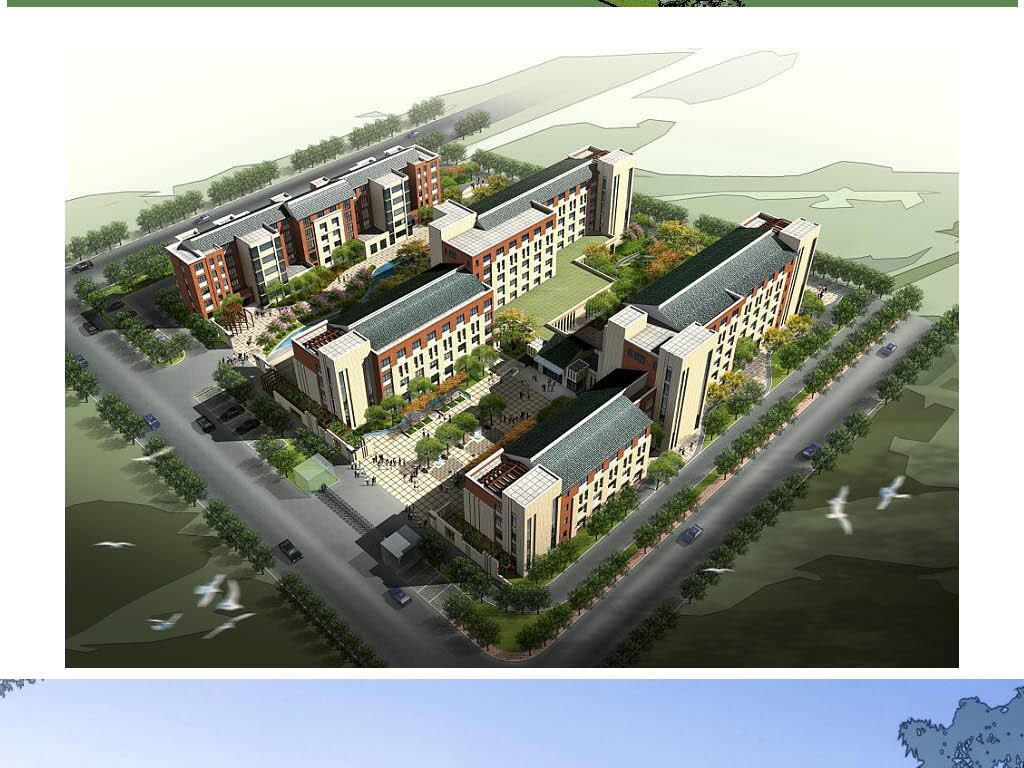 中式福利院养老院敬老院建筑设计方案及cad平面图片