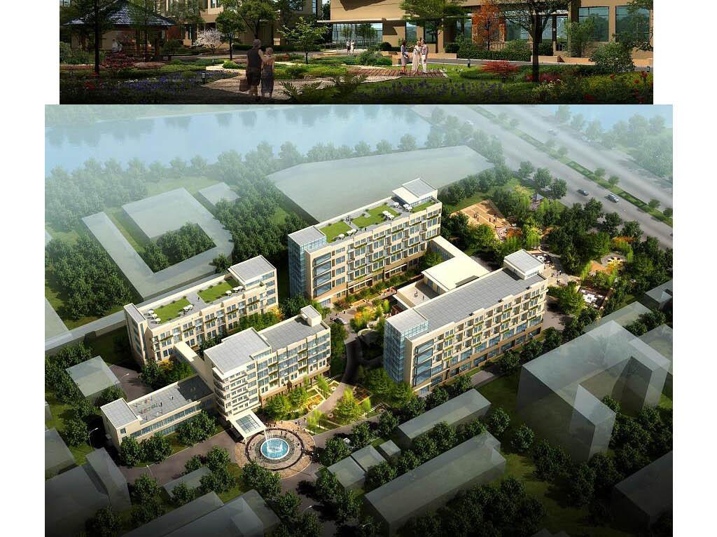 福利院养老院敬老院建筑设计方案及cad平面图片