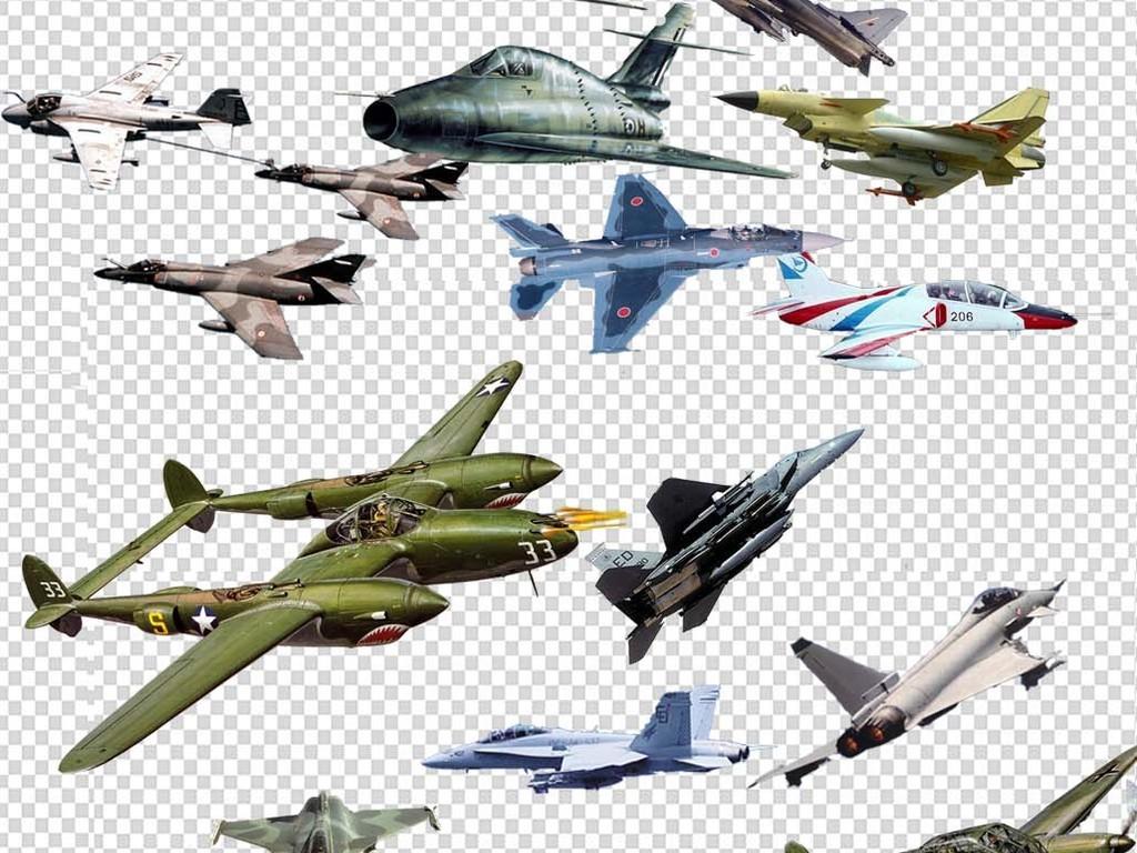 民航飞机战斗机psd分层素材