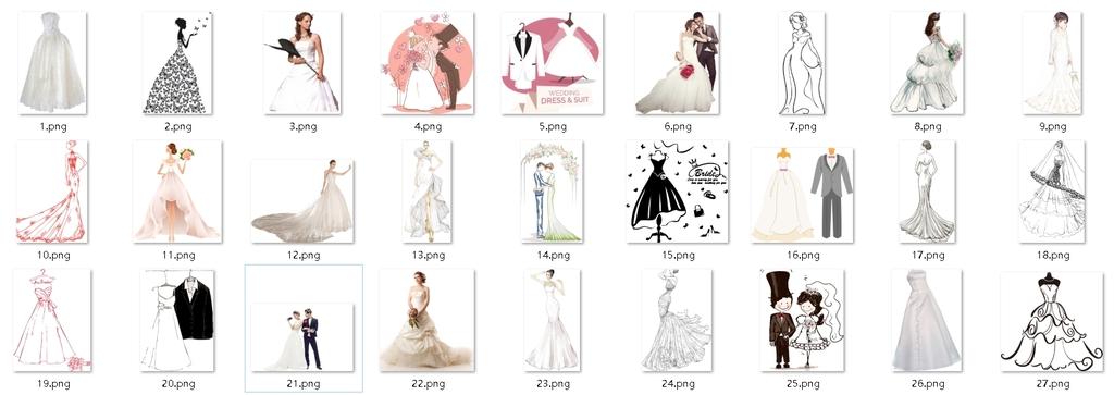 倩影手绘时装模特手绘婚纱设计