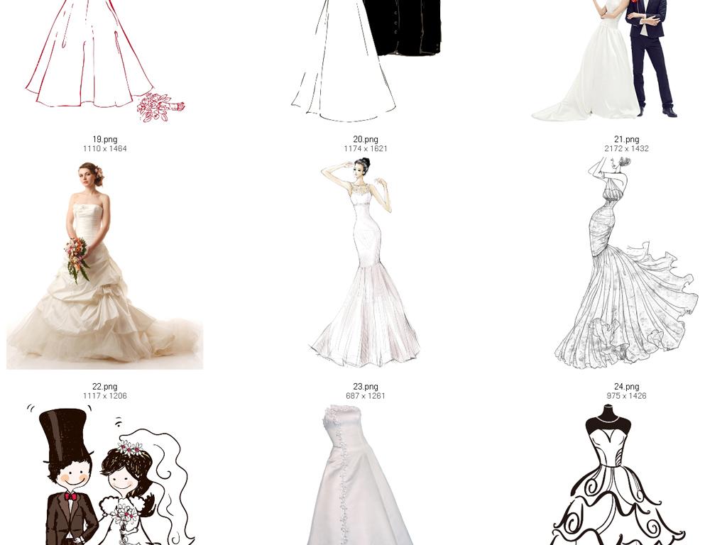 png)婚纱                                  卡通婚纱