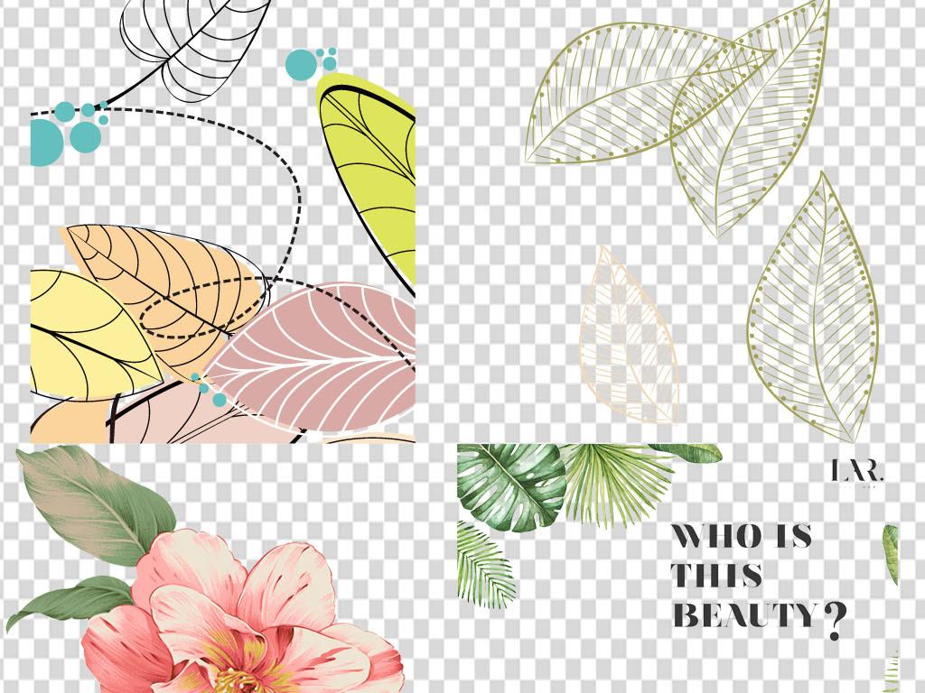 欧式花卉枝叶水彩叶子枝叶花卉图片