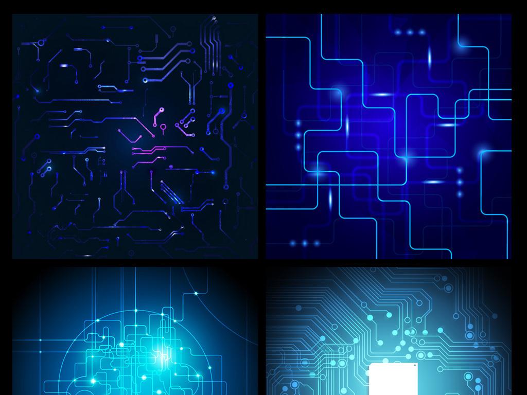 设计元素 背景素材 其他 > 电子电路科技元素
