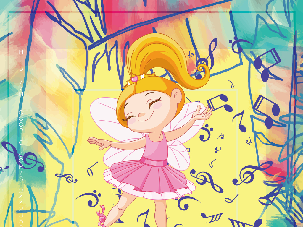 水彩手绘矢量少儿舞蹈班暑假招生宣传海报