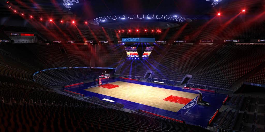 奥林匹克运动会篮球场nbacba灯光球场图片