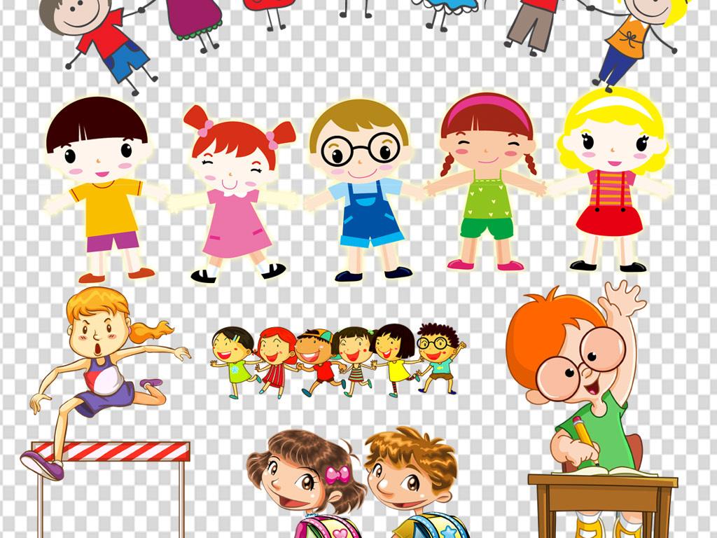 卡通小学生人物学习儿童