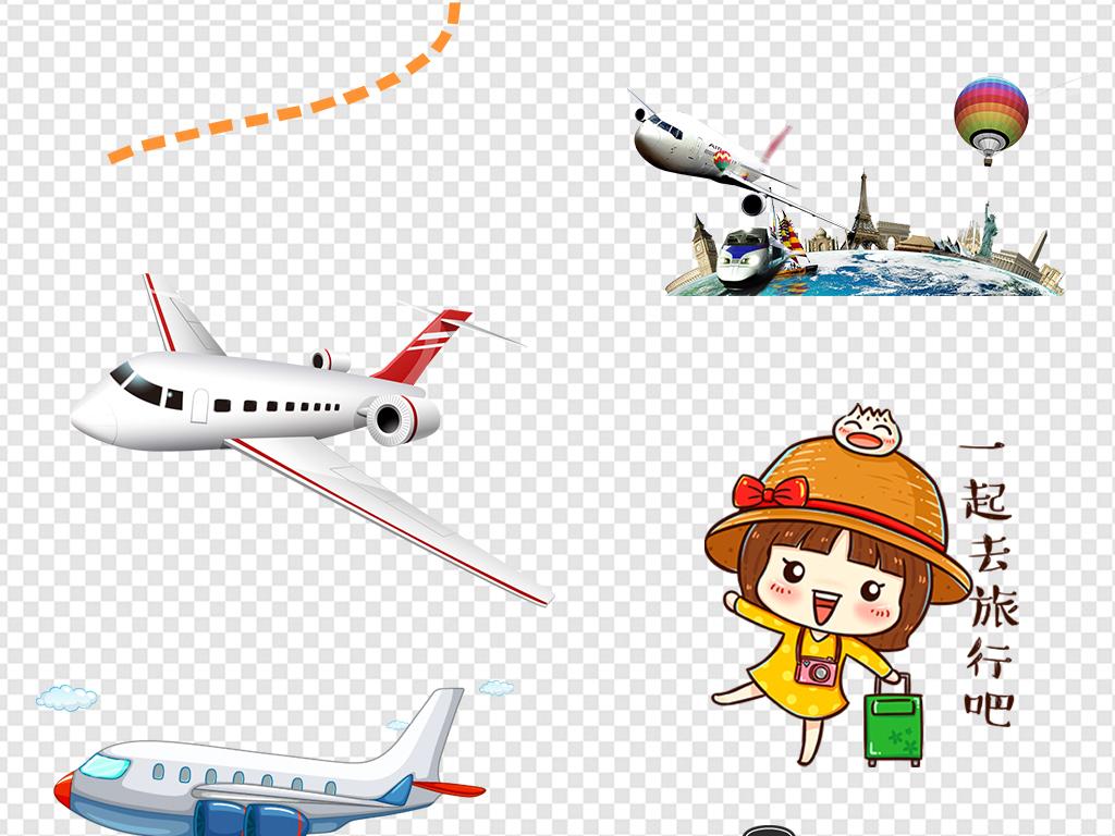 设计元素 背景素材 其他 > 卡通飞机起飞旅行旅游图片素材  卡通飞机