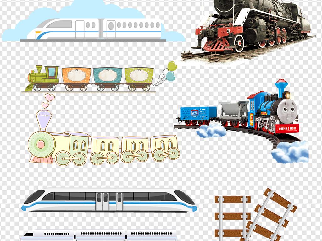 卡通火车动车高铁图片海报png素材