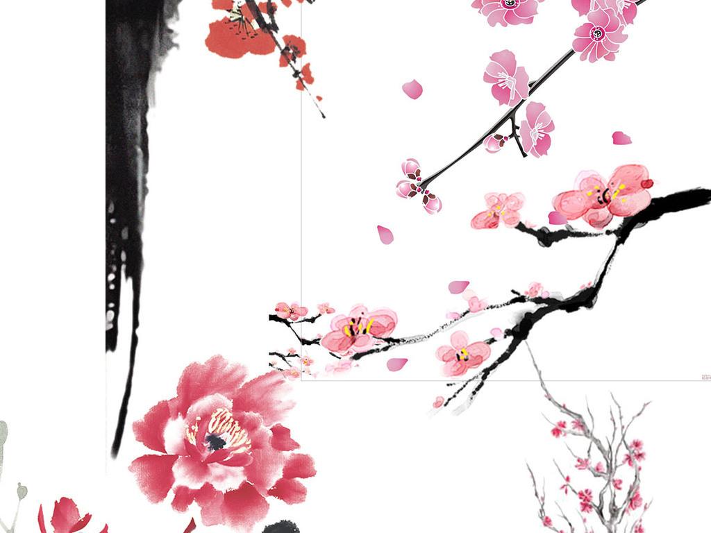 png手绘桃花图片高清