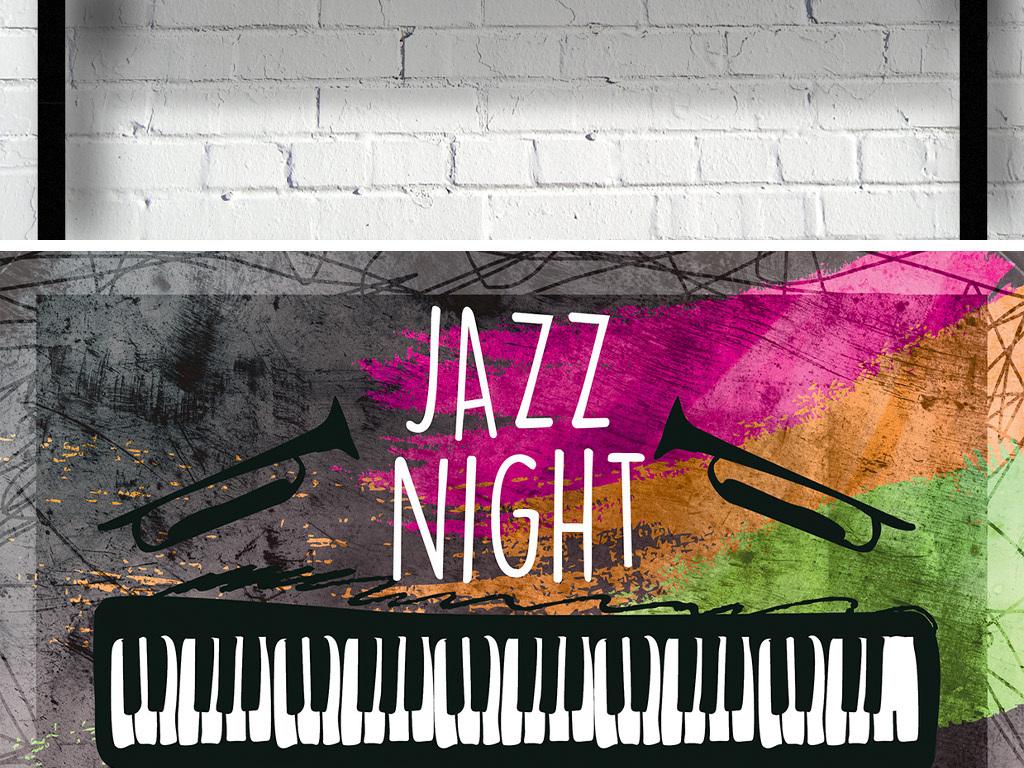 创意手绘涂鸦爵士音乐之夜宣传海报模板