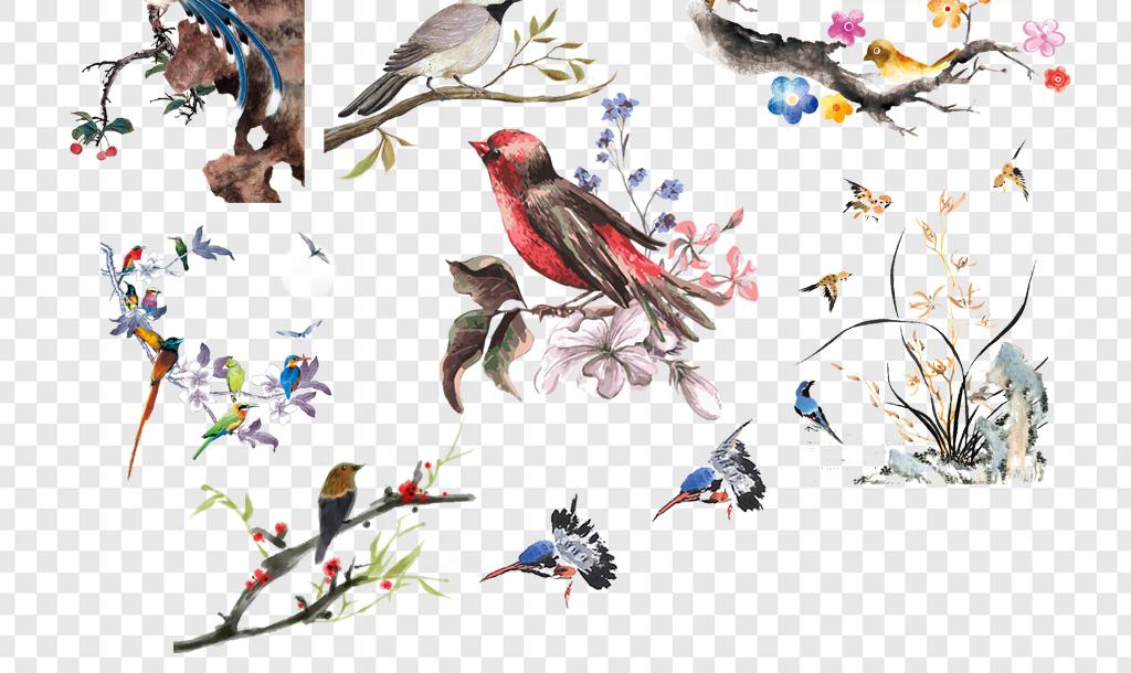 火烈鸟手绘高清壁纸