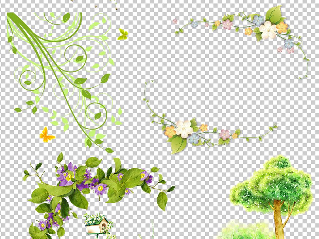 花藤图片花圈花边框手绘花藤边框装饰藤蔓边框