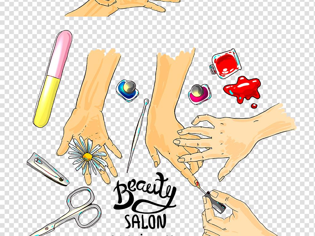 美容素材化妆品素材美甲png免扣图片素材